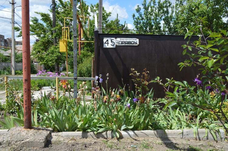 Улица имени «Комсомольской правды» утопает в зелени и цветах