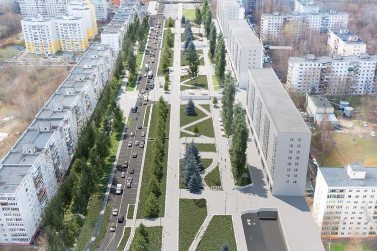 Фестивальная площадь и «тайная тропа»: какие изменения предложили архитекторы для бульвара Рокоссовского. ФОТО: ИРГСНО