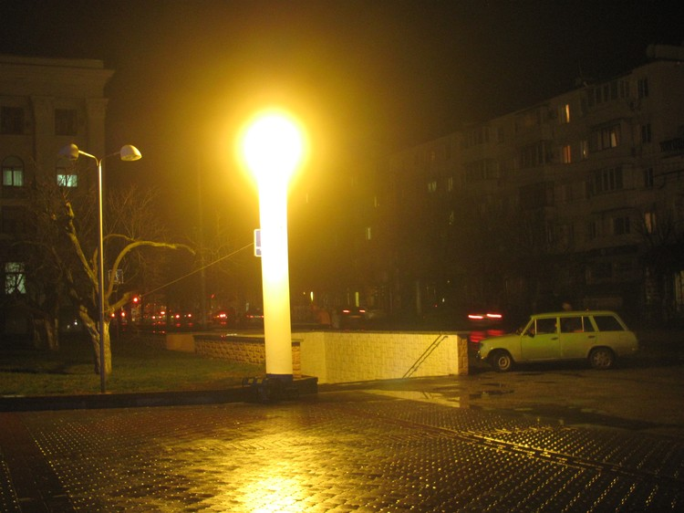 Улицы в Крыму освещали вот такими лампами от МЧС