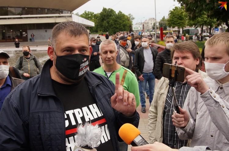 Сергей сам не ожидал такого количества людей в Гомеле