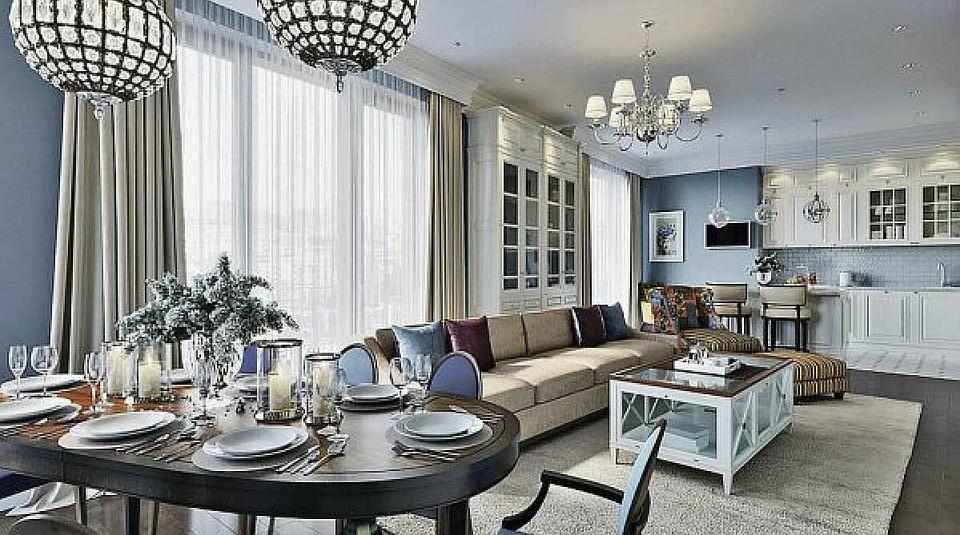 Квартира Татьяны площадью 232 квадратных метра оформлена в светлых тонах. Фото: estee-design.ru