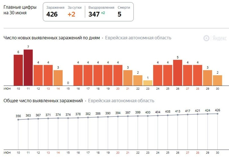 Статистика по заболеваемости ФОТО: скрин Яндекс.Коронавирус