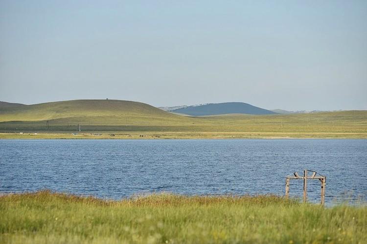 Хакасия - край голубых озер.