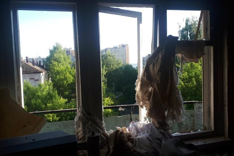 Вот так выглядят окна пострадавших квартир. Фото: 43.mchs.gov.ru