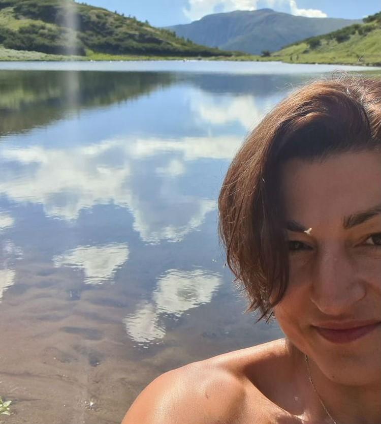 Оксана Сова перед тем как заблудиться. Фото: личный архив Оксаны Совы