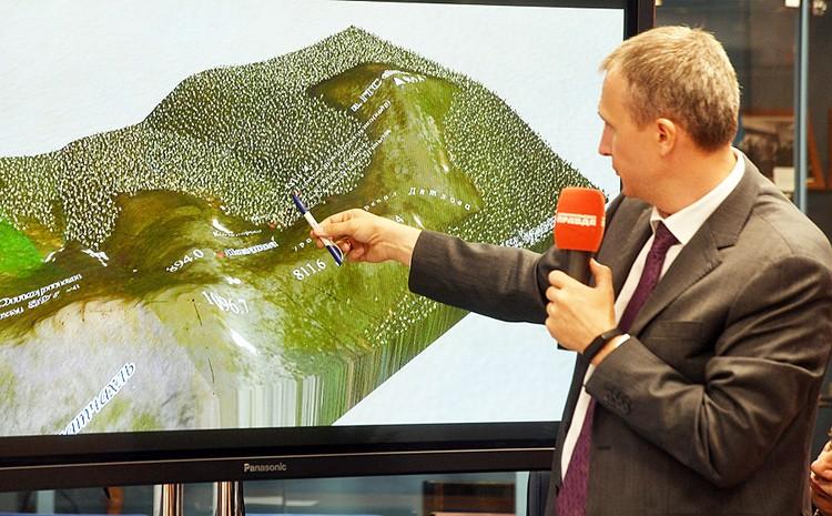3D-реконструкция перевала Дятлова