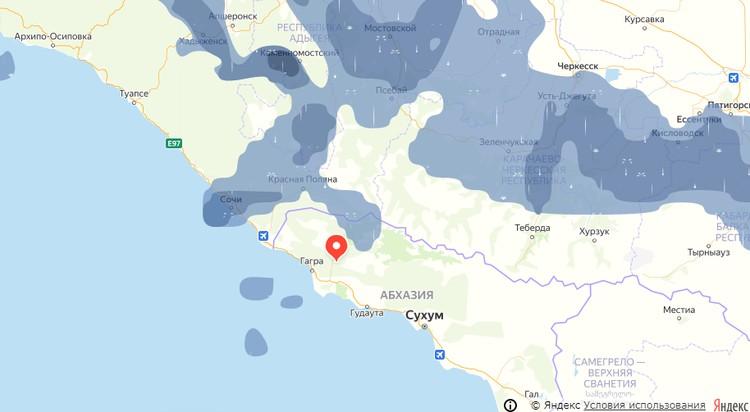 По данным Яндекса, стихия будет свирепствовать, как минимум до вечера.
