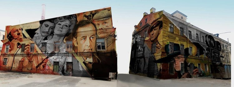Граффити появятся на фасадах к 16 августа. Фото: Kino Corner