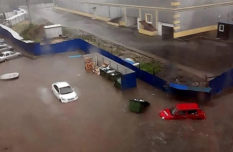 Последствия ливня в Ростове-на-Дону Фото: соцсети