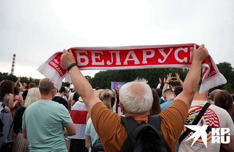 Пикет в поддержку Светланы Тихановской продлился два часа
