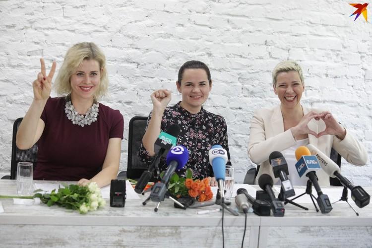 Вероника Цепкало, Светлана Тихановская, Мария Ковалевская.