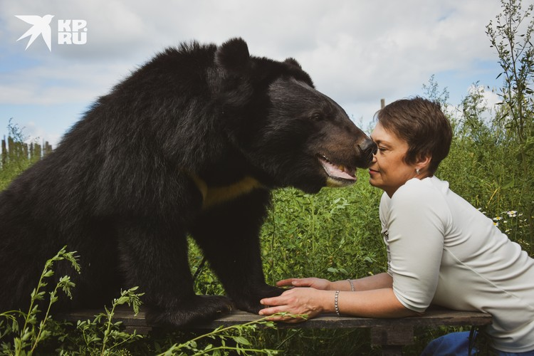 Зоозащитница Наталия Новикова не дала медведям погибнуть от голода.