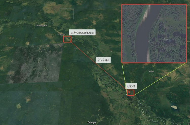 Месторасположение тайного женского скита в Уральских лесах