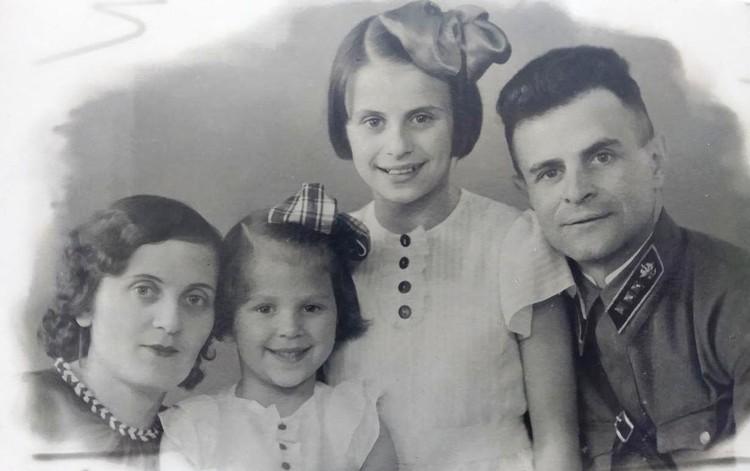 Семья Зебах в мае 1941 года, последнее предвоенное фото.