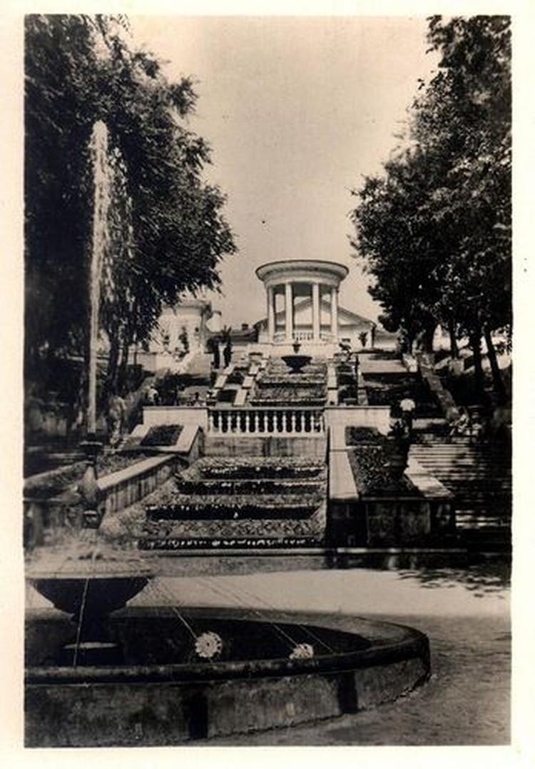 Каскадная лестница, 1956 год. Фото: Д.Яцкул