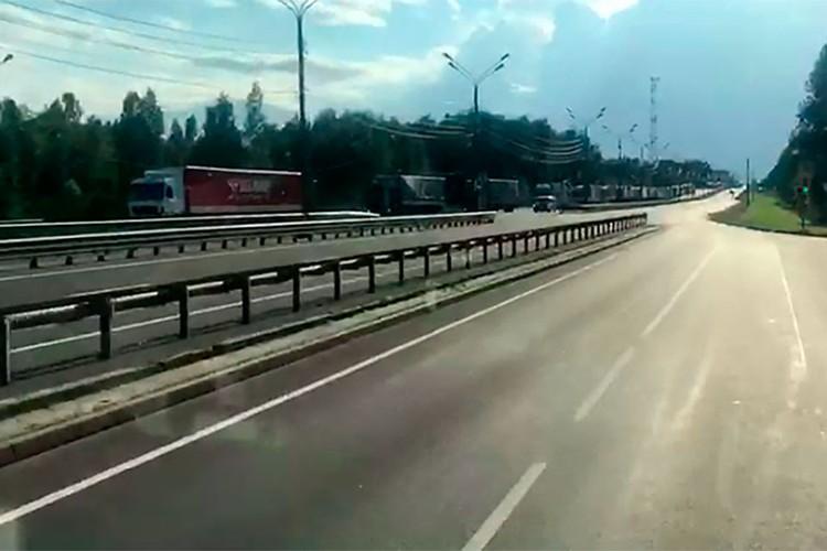 ДОрога к границе России и Беларуссии