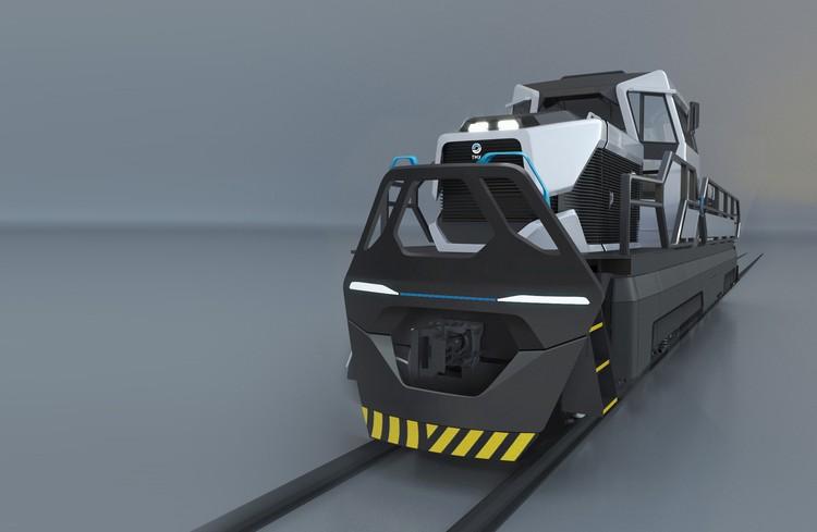 А так в будущем могут выглядеть маневровые локомотивы ТМХ. Фото предоставлено пресс-службой ТМХ.