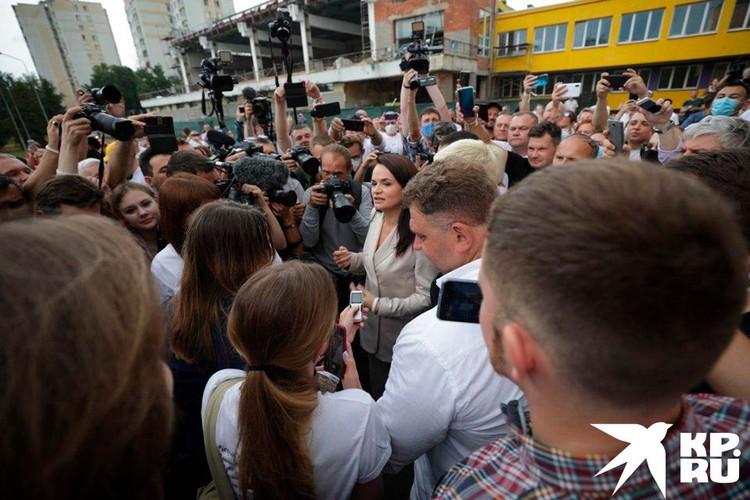 Светлана Тихановская ответила на вопрос журналистов