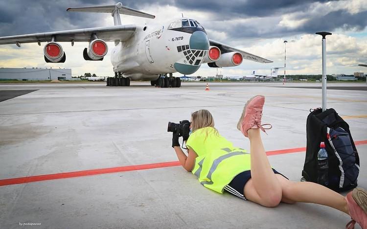 """Красавец Ил-76 всегда притягивает к себе поклонников авиации. Фото: Фото: Instagram """"Авиакон Цитотранс"""""""