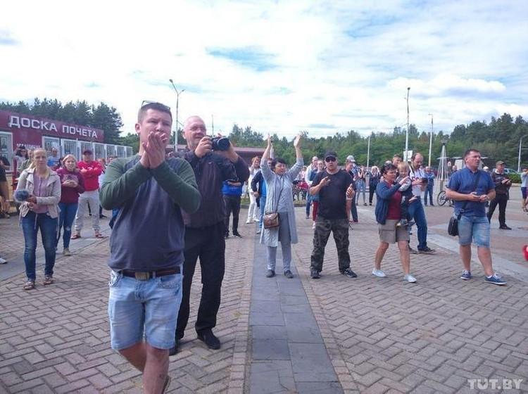 Забастовали рабочие в Бобруйске. Фото: TUT.BY