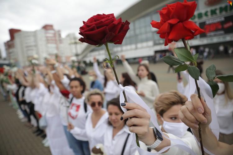 Мирный протест женщин.