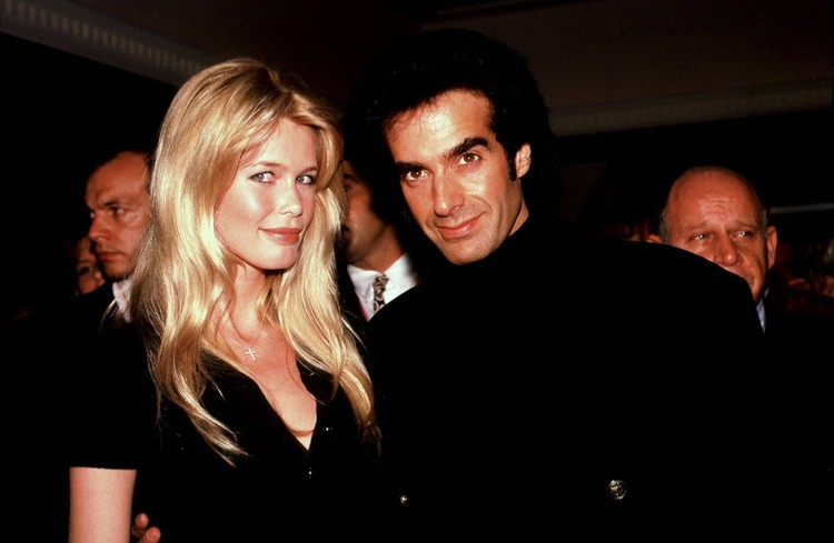 Клаудия с Дэвидом Копперфилдом, 1995 г.