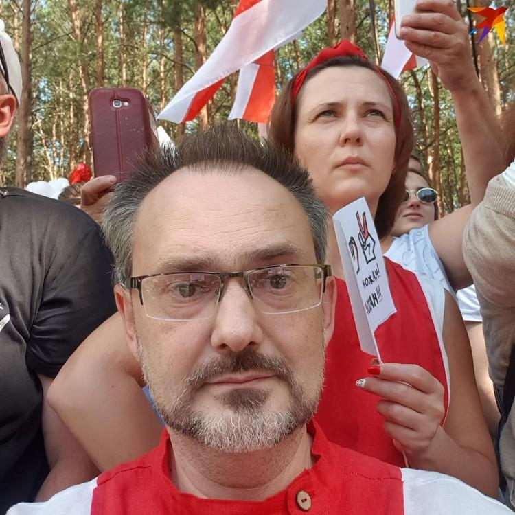Супруги участвовали в официально разрешенных митингах Светланы Тихановской. Фото: личный архив.