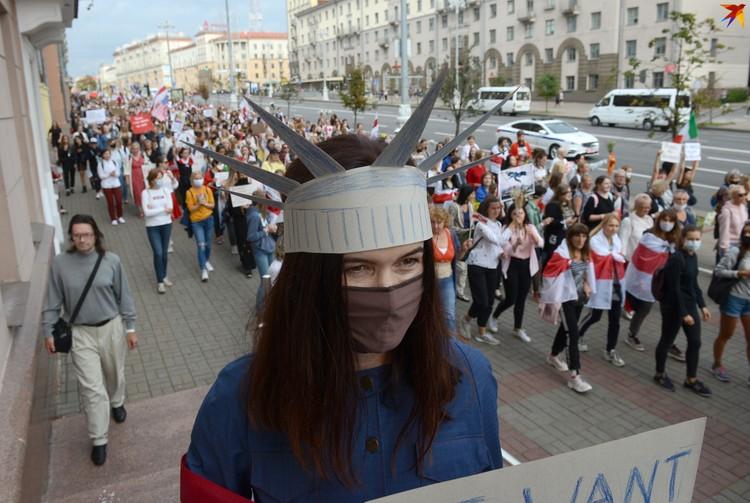 В шествии участвовали несколько тысяч человек