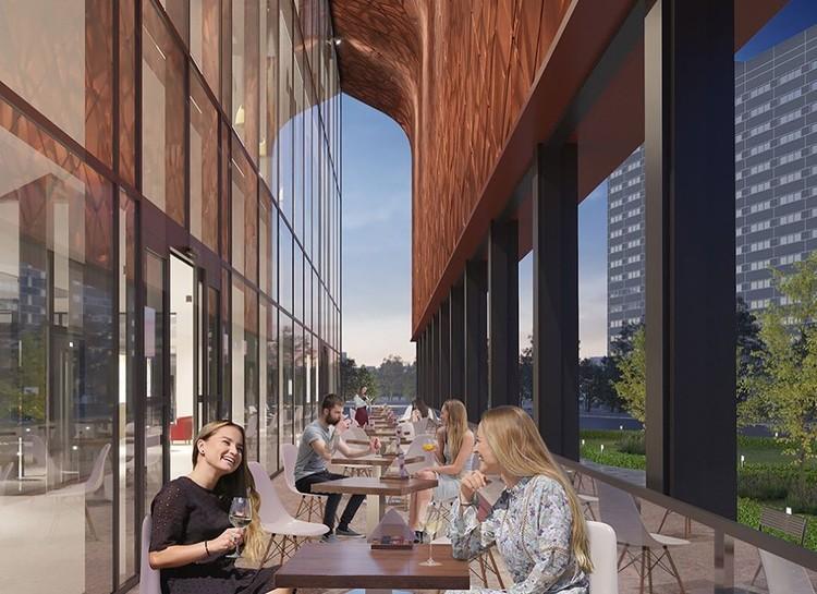 В новом здании появится уютная терраса для летнего кафе. Фото: Instagram Алексея Вязьминова