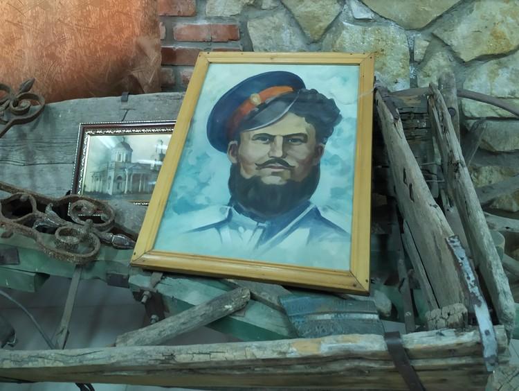 Портрет Федора Подтёлкова в Еланском казачьем музейно-мемориальном комплексе.