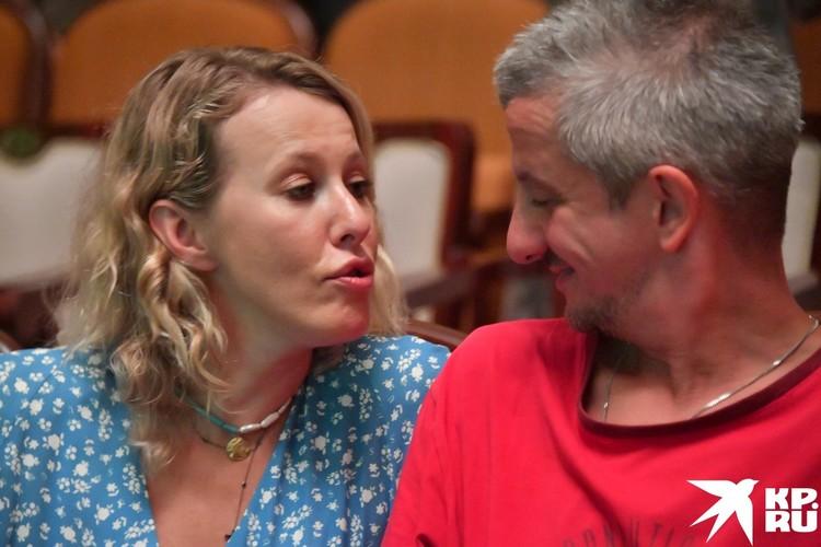 Ксения приехала на «Кинотавр» с мужем и сыном