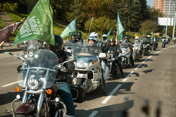 Крестный ход на мотоциклах 20 сентября 2020. Фото: Ксения ОСАДЧАЯ