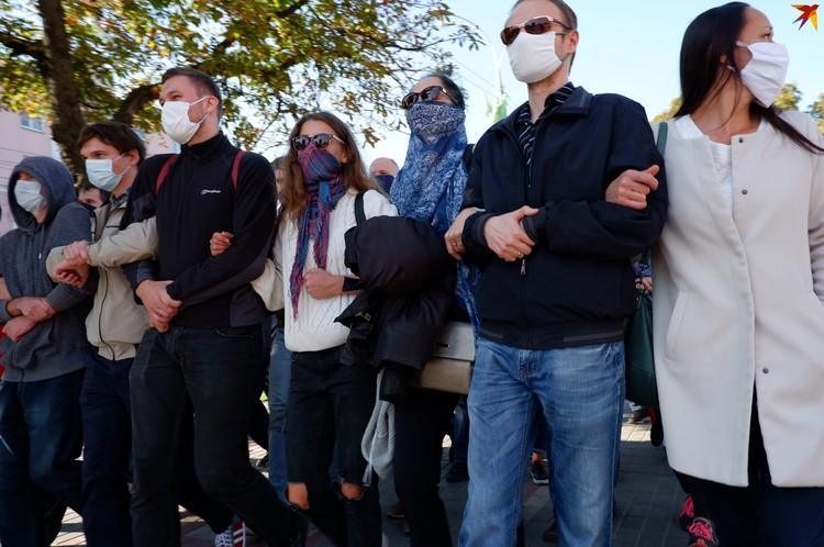 Акция протеста в Гомеле 20 сентября