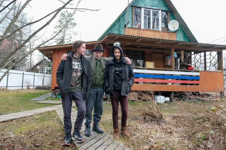 Иван Краско с младшими сыновьями