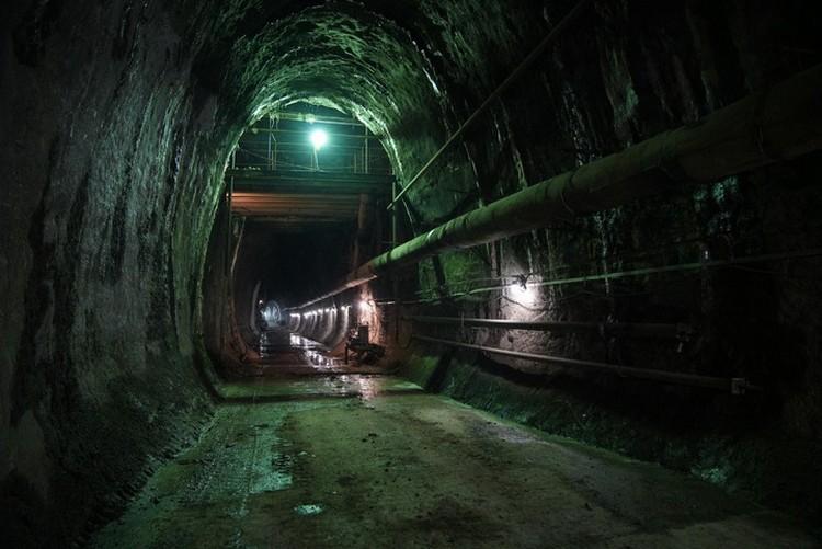 Общая протяженность тоннеля более 1,2 км