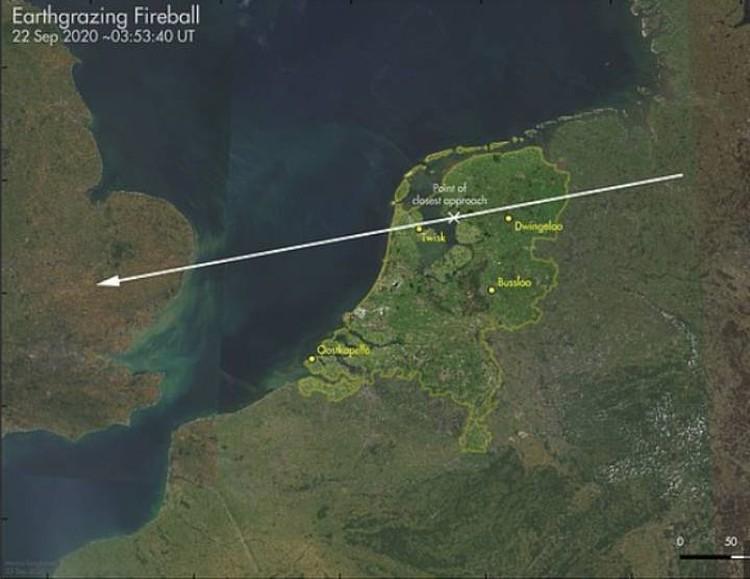 Траектория полета космического гостя.
