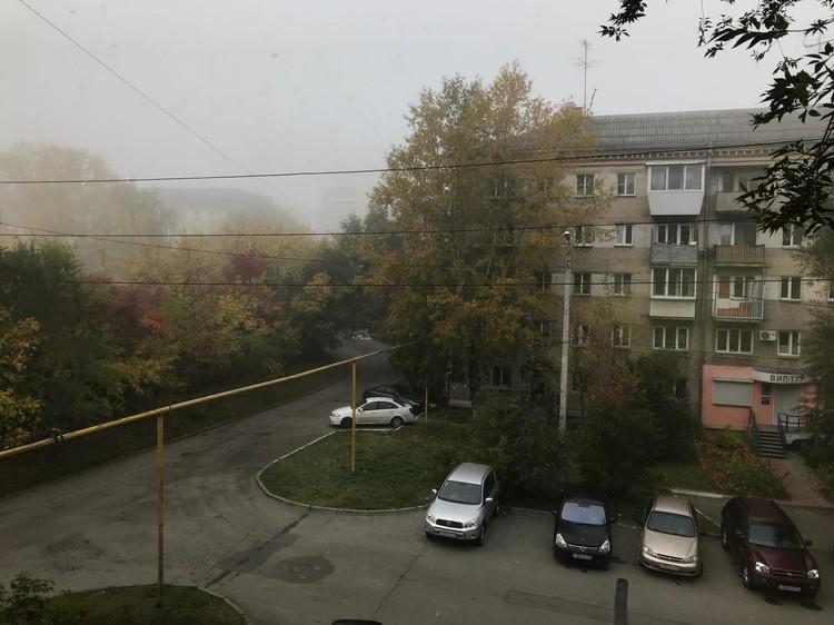В некоторых кварталах туман не такой густой