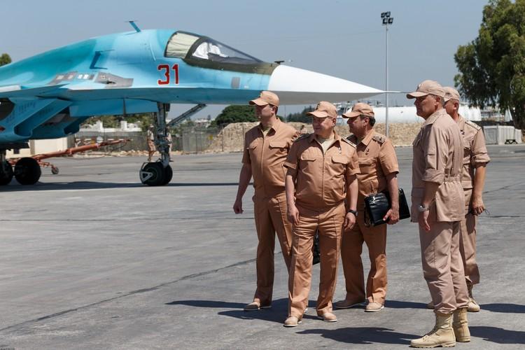 К началу операции на авиабазе Хмеймим была создана группировка войск