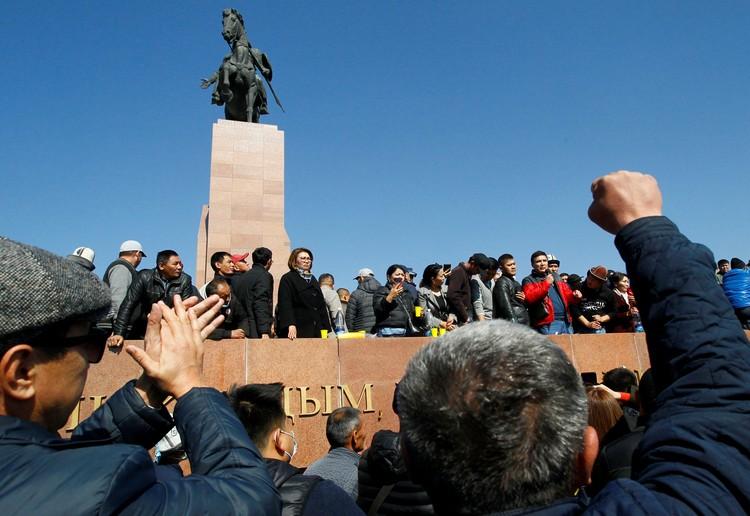 В среду в центре столицы Кыргызстана прошел очередной митинг оппозиции.