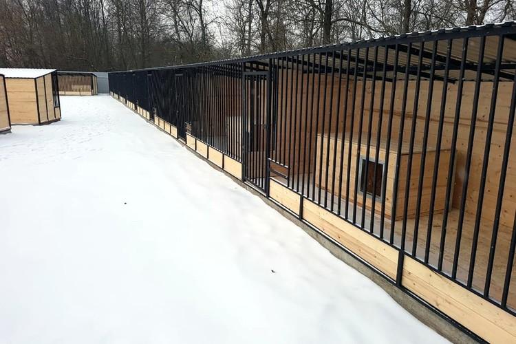 В построенном в Больших перемерках приюте обустроено 29 вольеров, также есть помещение для передержки. Фото: Фото: со страницы Дмитрия Нечаева в Фейсбуке.