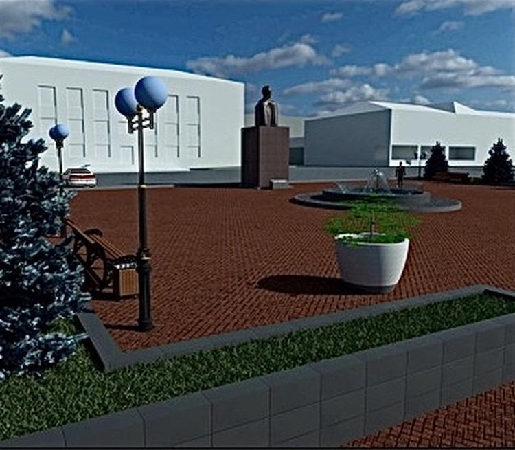 Проект благоустройства площади. Графика: ООО «Центр проектирования зданий и сооружений»