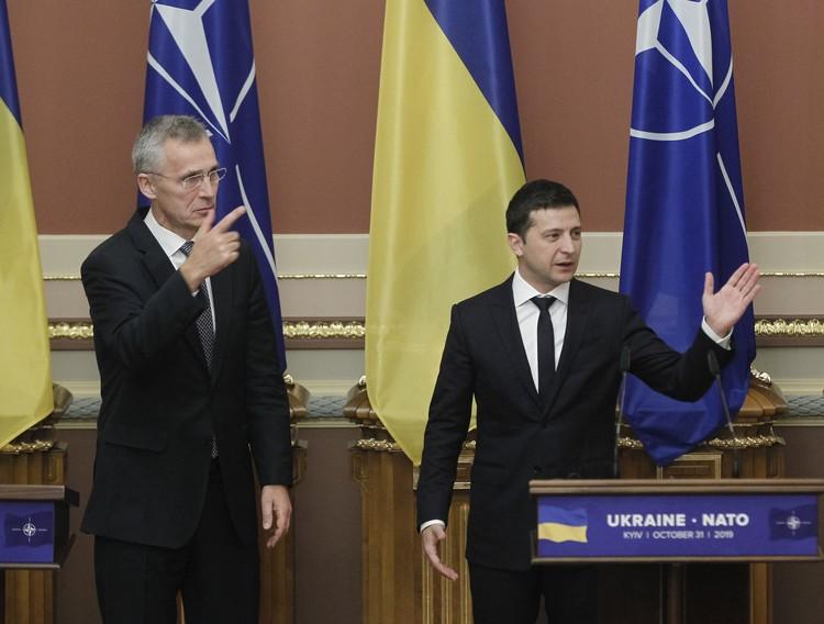 Владимир Зеленский и генеральный секретарь НАТО Йенс Столтенберг