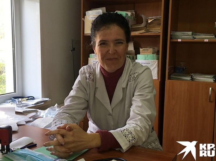 Врач Марина Крыж, виссарионовка, которая сама доставила ребенка в реанимацию.