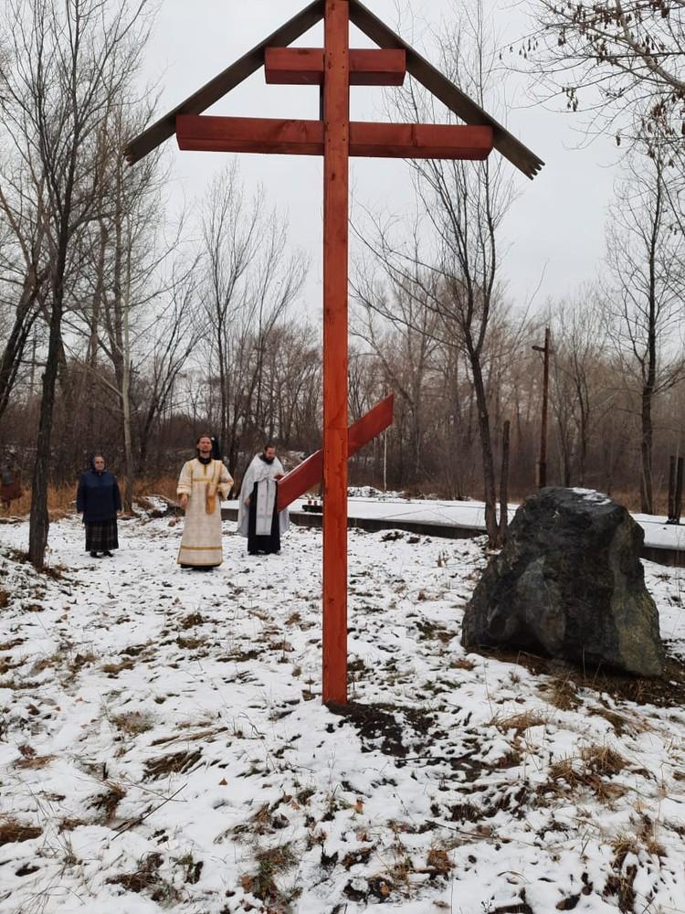 Поклоннный крест на месте расстрела