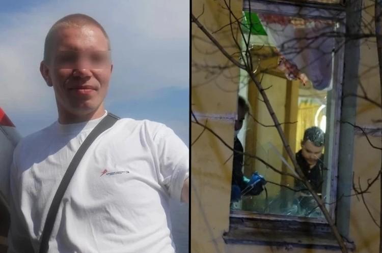 Мужчина разгромил кухню топором и угрожал убить детей. Фото: СОЦСЕТИ / Артем КИЛЬКИН
