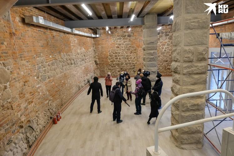 В стенах Выборгского замка сохранилась кладка многовековой давности