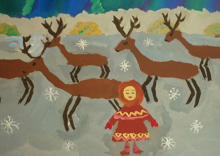 Зырянова Анастасия, 11 лет, г. Бердск (Новосибирская обл.), «Северные узоры»
