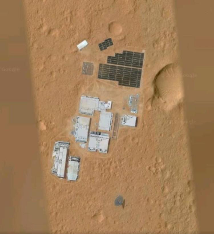 База на Марсе.