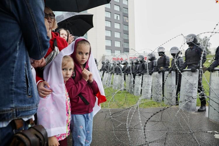 Акция протеста у Дворца Независимости.