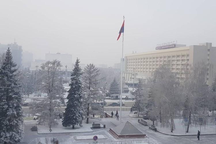 Торжественное поднятие флага города Фото: instagram